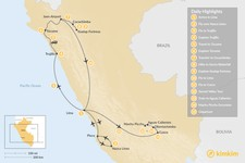 Map thumbnail of History & Culture of Peru - 15 Days