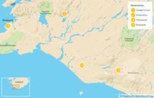 Map thumbnail of Golden Circle, South Coast, & Thorsmork - 5 Days