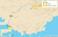 Map thumbnail of Provençal Alps Adventure: Marseille & Verdon - 9 Days