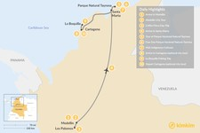 Map thumbnail of Explore Medellín & the Caribbean Coast - 10 Days