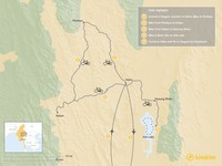 Map thumbnail of Cycling in Shan State - 5 Days
