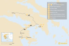 Map thumbnail of Family Holiday in Athens & Nafplio - 9 Days