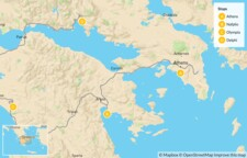 Map thumbnail of Greek History, Nature, and Culture for Families: Athens & the Peloponnese - 10 Days
