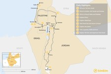 Map thumbnail of Highlights of Jordan & Israel - 9 Days
