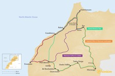 Map thumbnail of 13 Days in Morocco - 3 Unique Itineraries