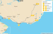 Map thumbnail of Uruguay Self-Drive Adventure - 9 Days