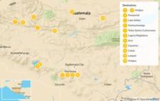Map thumbnail of Best of Guatemala by Mountain Bike - 14 Days