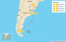 Map thumbnail of Classic Argentina: Patagonia & Iguazú - 10 Days