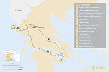 Map thumbnail of Adventurous Athens, Central Greece, and Corfu - 14 Days