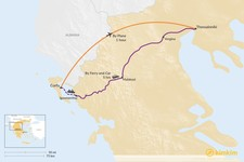 Map thumbnail of How to Get from Corfu to Thessaloniki