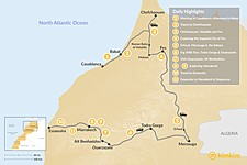 Map thumbnail of Morocco Grand Tour: Cities, Desert & the Coast - 11 Days