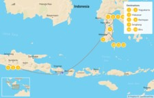 Map thumbnail of Temples & Tradition in Java & Sulawesi - 13 Days
