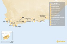 Map thumbnail of Cape Town & Garden Route Adventure - 12 Days