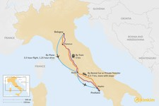 Map thumbnail of How to Get from Bologna to Positano