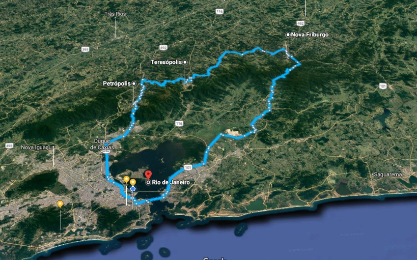 Map of Rio de Janeiro Trek: Valley of the Gods - 3 Days