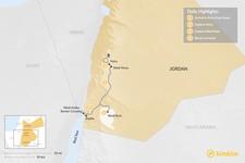 Map thumbnail of Jordan from Israel: Petra & Wadi Rum - 4 Days