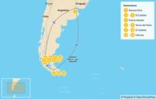 Map thumbnail of Southern Patagonia - 14 Days