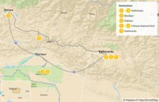 Map thumbnail of Nepal's Golden Triangle: Kathmandu, Pokhara, & Chitwan - 8 Days