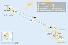 Map thumbnail of Santorini & Folegandros - 8 Days