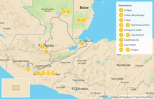 Map thumbnail of Guatemala and Belize: Ruins, Reefs & Cobblestone Streets - 14 Days