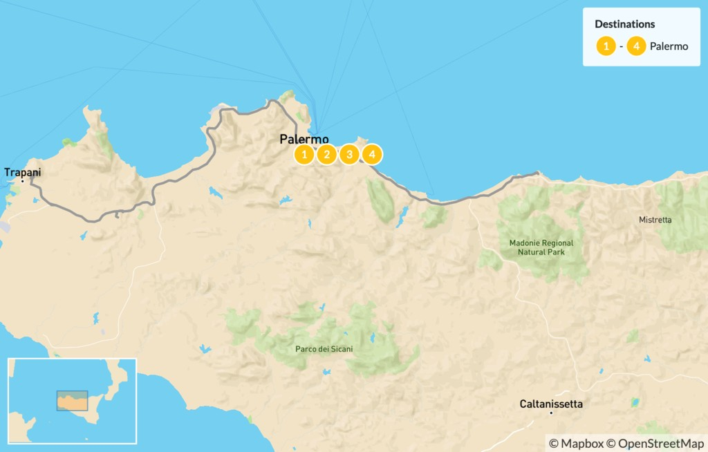 Map of Explore Western Sicily - 5 Days