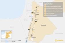 Map thumbnail of Discover Jordan: Petra, Wadi Rum, Dead Sea  - 7 Days