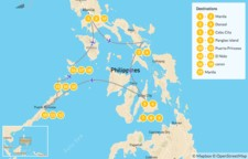 Map thumbnail of Island Hopping in the Philippines: Manila, Donsol, Cebu & Palawan - 20 Days