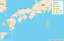 Map thumbnail of Explore Japan's Islands - 10 Days