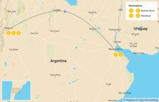 Map thumbnail of Argentina's Wine Country - 6 Days
