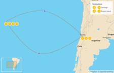 Map thumbnail of Santiago, Valparaíso, & Easter Island - 8 Days