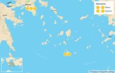 Map thumbnail of Taste of Athens & Santorini - 6 Days
