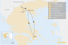 Map thumbnail of Urban Adventures and History in Athens & Thessaloniki - 8 Days