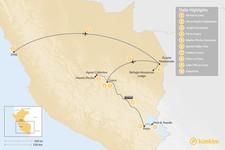 Map thumbnail of Best of Peru: Amazon, Machu Picchu, Lake Titicaca - 10 Days