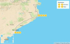 Map thumbnail of Best of Barcelona & the Costa Brava - 8 Days