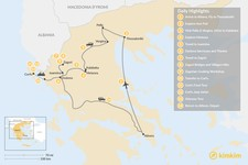 Map thumbnail of Enchanting Northern Greece and Corfu - 14 Days
