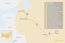 Map thumbnail of Russian Capitals & Golden Ring Tour - 14 Days