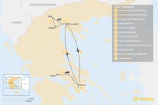 Map thumbnail of Urban Adventures and History in Athens & Thessaloniki - 12 Days