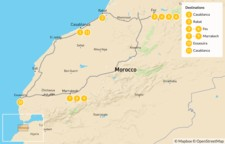Map thumbnail of Discover Morocco: Imperial Cities to the Atlas Mountains and the Coast - 12 Days