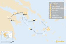 Map thumbnail of Delightful Naxos and Mainland Greece - 8 Days
