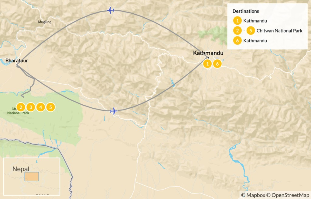 Map of Best of Chitwan National Park - 7 Days