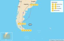 Map thumbnail of Ushuaia & El Calafate Adventure - 14 Days