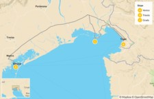 Map thumbnail of Northeast Italy: Trieste, Grado & Venice - 7 Days
