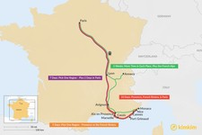 Map thumbnail of Ultimate France Itineraries - 5, 7, 10, & 14 Days