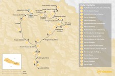 Map thumbnail of Three Passes Trek: Ultimate Trek in the Everest Region - 22 Days