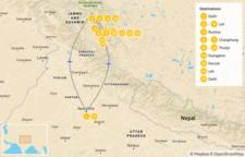 Map thumbnail of North India Rupshu Tsomoriri Trek - 18 Days