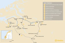 Map thumbnail of Norway Fjords Multi-Sport Tour:  9-Day Itinerary