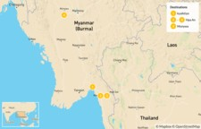 Map thumbnail of Explore Buddhism in Myanmar - 15 Days