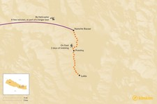Map thumbnail of How to Get from Lukla to Namche Bazaar