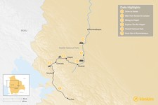 Map thumbnail of Andes-to-Amazon Adventure Expedition - 6 Days