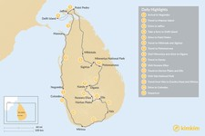 Map thumbnail of Sri Lanka from North to South - 15 Days